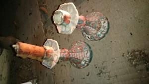 九谷焼の燭台