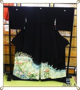 加賀友禅 寺井英世 黒留袖 着物 和装 結婚式 正絹