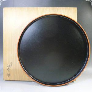丸盆 茶道具 盆 塗師 紫雲作 共箱 漆器