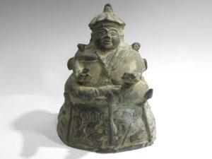 中国古玩銅製坐像仏像