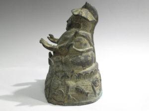 中国古玩銅製坐像仏像1